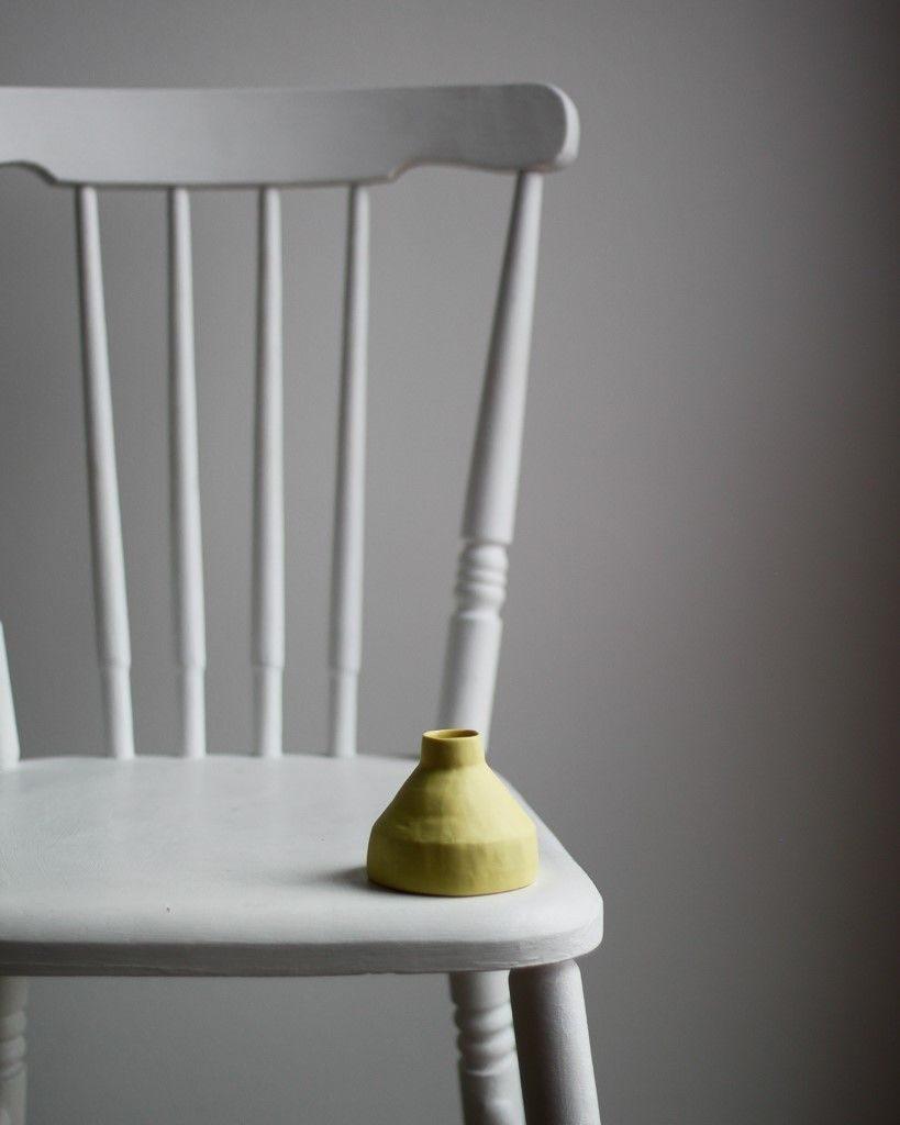 Vase Porcelaine Yellow Kira Ni